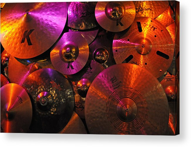 Cymbal Acrylic Print featuring the photograph Cymbalism by Mike Martin