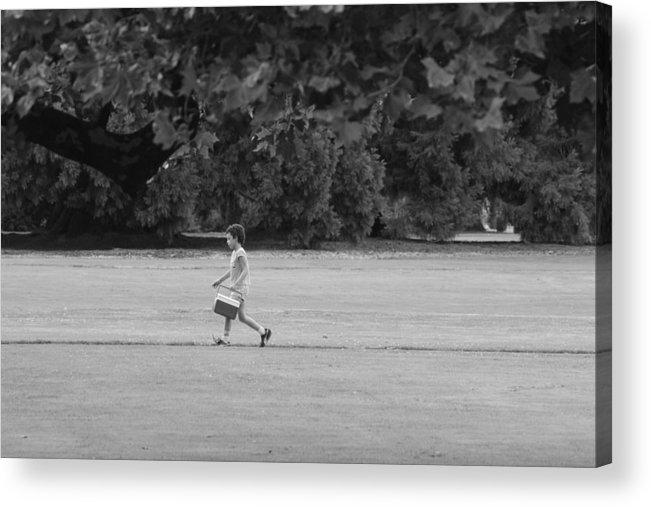 Child Acrylic Print featuring the photograph Dad's Lunchbox by Jake Waldner