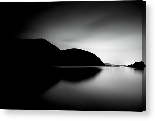 Black And White Acrylic Print featuring the photograph Dark Side by Tim Drivas