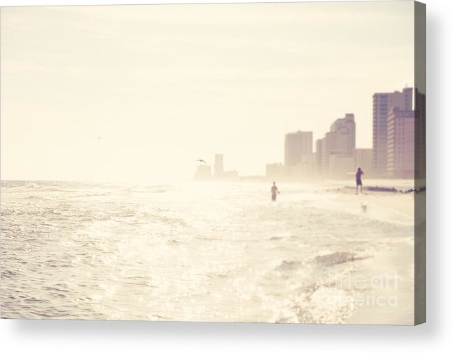 Gulf Shores Acrylic Print featuring the photograph Day At The Beach by Erin Johnson