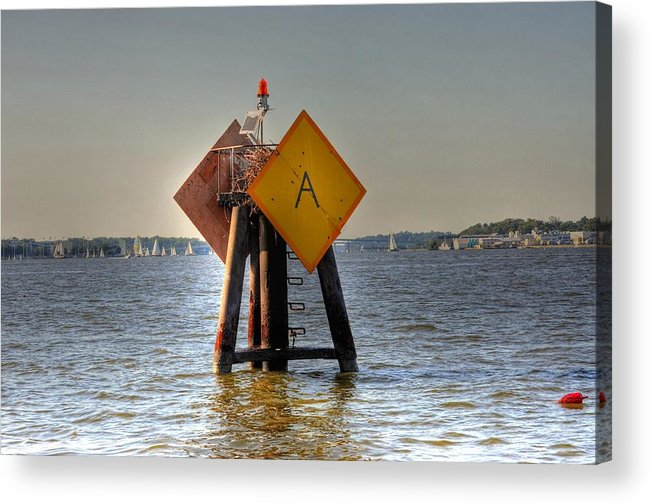 Live Life's Adventures Acrylic Print featuring the digital art Day Marker by Barry R Jones Jr