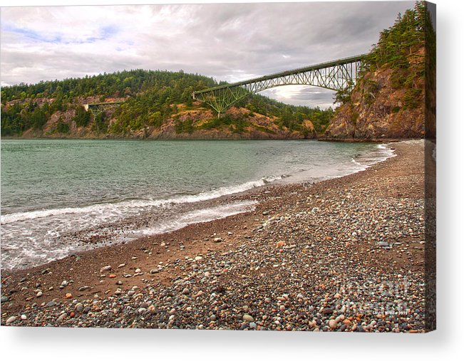 Deception Pass In Washington State Acrylic Print featuring the photograph Deception Pass Washington by Artist and Photographer Laura Wrede