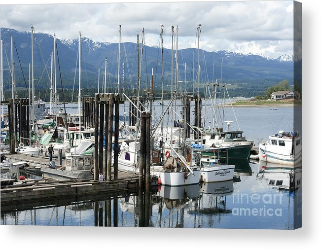 Deep Bay British Columbia Acrylic Print featuring the photograph Deep Bay Harbor by Artist and Photographer Laura Wrede