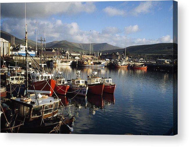 Outdoors Acrylic Print featuring the photograph Dingle, Co Kerry, Ireland Boats In A by The Irish Image Collection