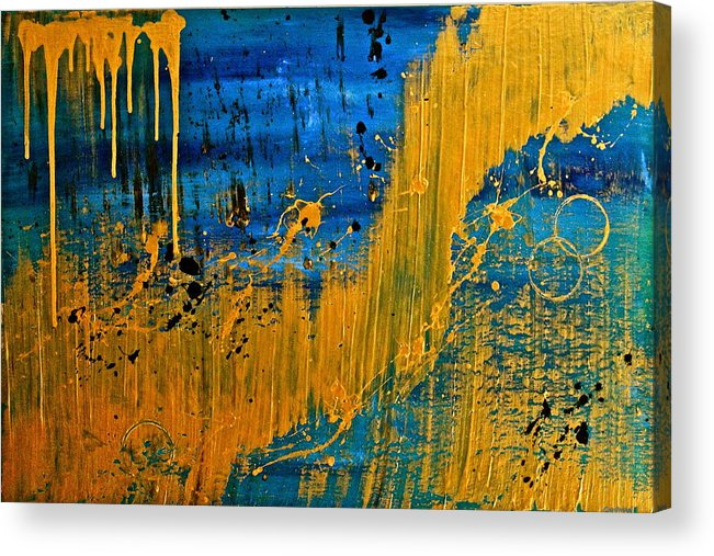 Original Acrylic Print featuring the painting Dipped In Gold by Eric Chapman