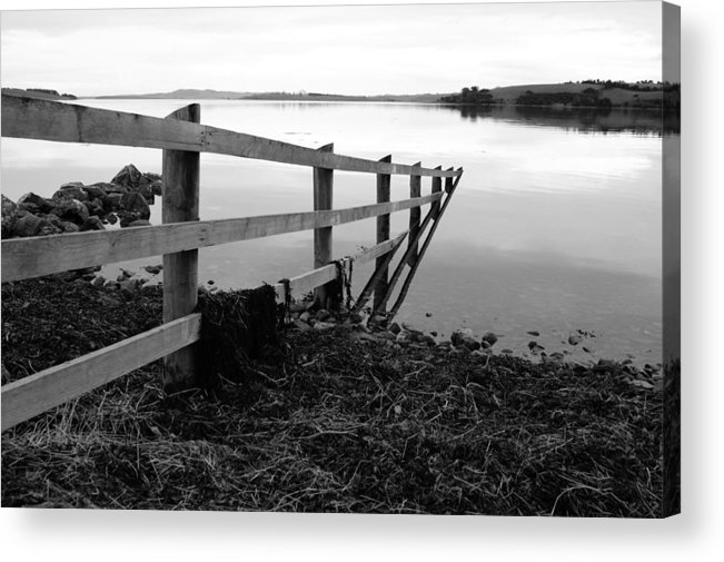 Irish Acrylic Print featuring the photograph Disappearing Fence. by Martine Maclennan