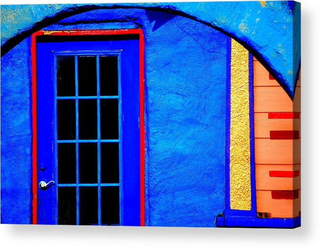 Blue Acrylic Print featuring the photograph Door And Keys by David Pike