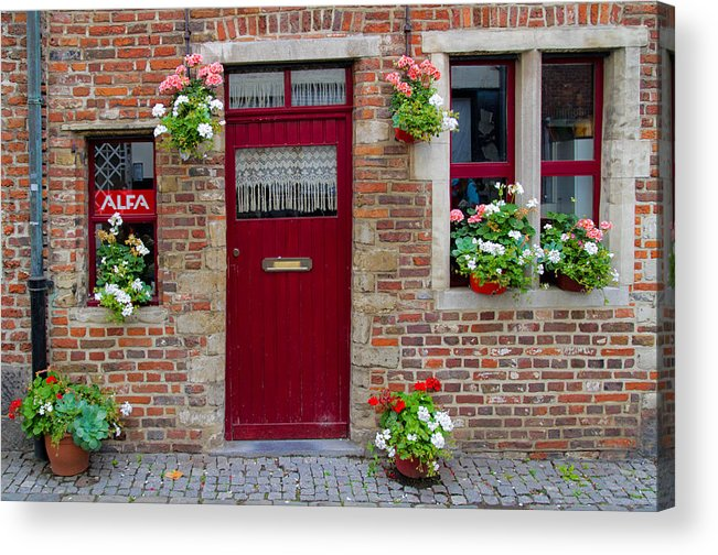 Europe Acrylic Print featuring the photograph Door And Windows by David Freuthal