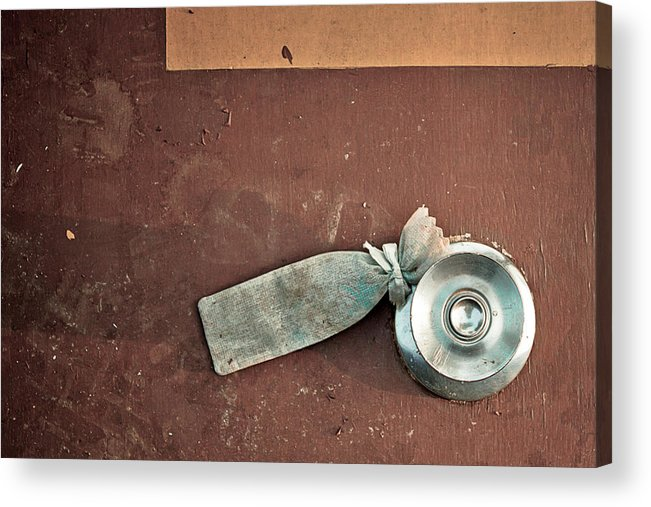 Access Acrylic Print featuring the photograph Door Knob by Natapol Chananuwong