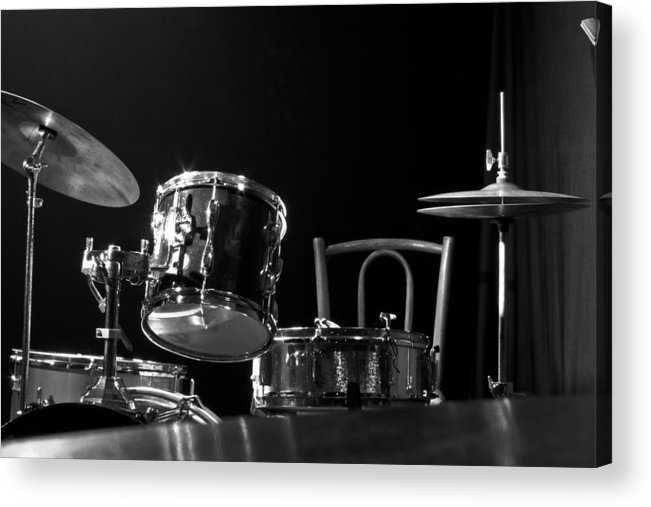 Jazz Acrylic Print featuring the photograph Drummer Set by Eduardo Serra
