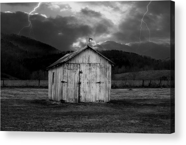 Shed Acrylic Print featuring the photograph Dry Storm by Ron Jones