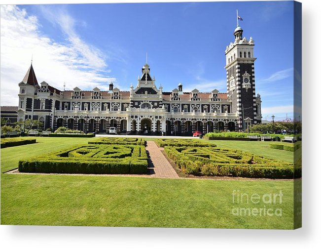 Dunedin Acrylic Print featuring the photograph Dunedin Train Station by Peter Harrison