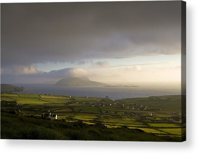 Blasket Islands Acrylic Print featuring the photograph Dunquin, County Kerry, Ireland Vista Of by Peter McCabe