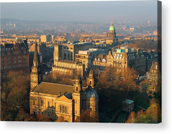 Edinburgh Acrylic Print featuring the photograph Edinburgh On A Winter's Day by Christine Till