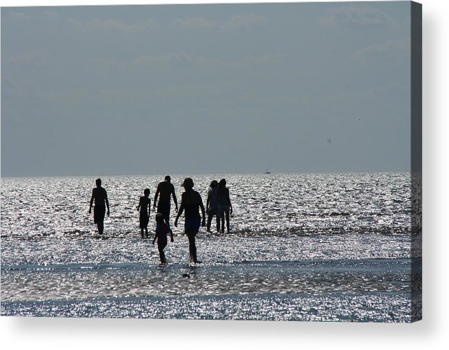 Sky Acrylic Print featuring the photograph Evening Ocean Stroll by Loretta Pokorny