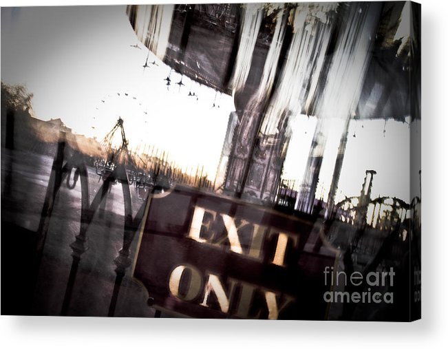 New Orleans Acrylic Print featuring the photograph Exit Only by Pixel Perfect by Michael Moore