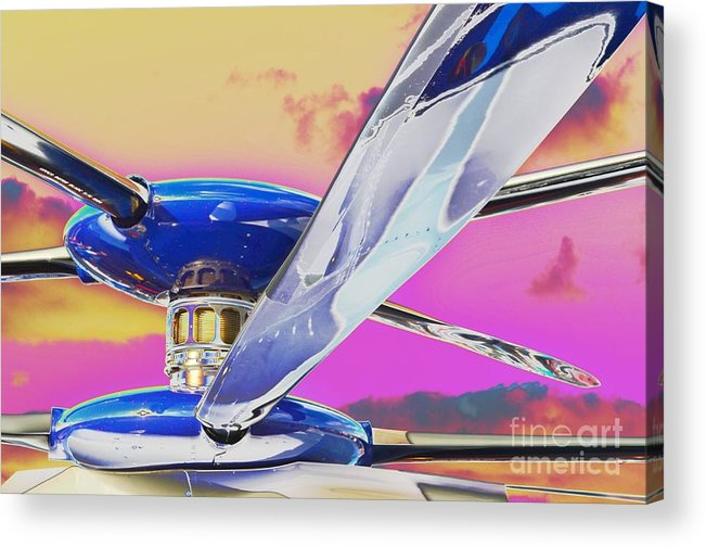 X2 Technology� Demonstrator Acrylic Print featuring the photograph Experimenting With An Experimental by Lynda Dawson-Youngclaus