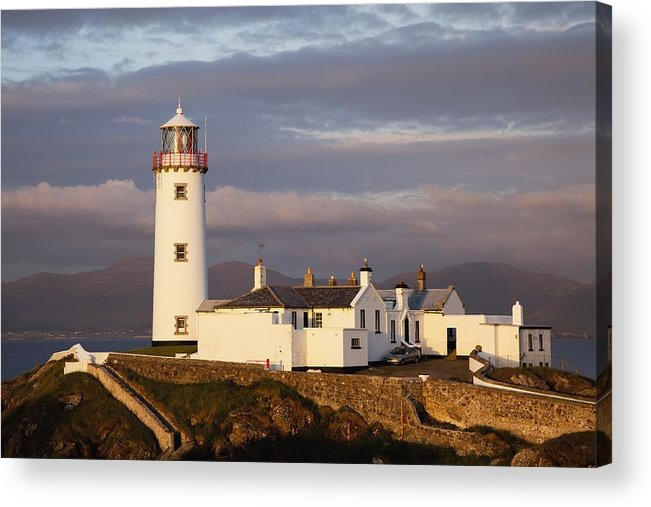 Coast Acrylic Print featuring the photograph Exterior Of Fanad Lighthouse Fanad by Peter Zoeller