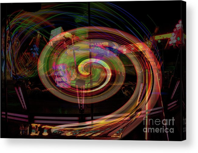 Fairground Acrylic Print featuring the photograph Fairground Fantasy by David Hollingworth