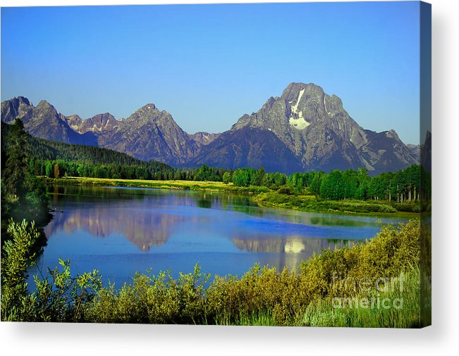 Grand Teton Acrylic Print featuring the photograph Fall At Oxbow Bend by Robert Bales