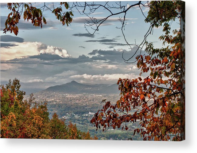 Blue Ridge Parkway Acrylic Print featuring the photograph Fall View From Roanoke Mountain by James Woody
