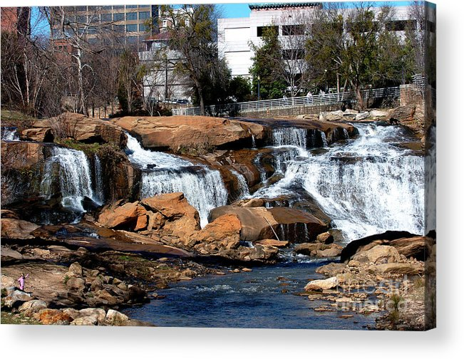 Landscape Acrylic Print featuring the photograph Falls Park Sc by Karl Voss