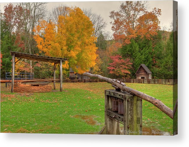 2010 Acrylic Print featuring the photograph Farm Iv by Charles Warren