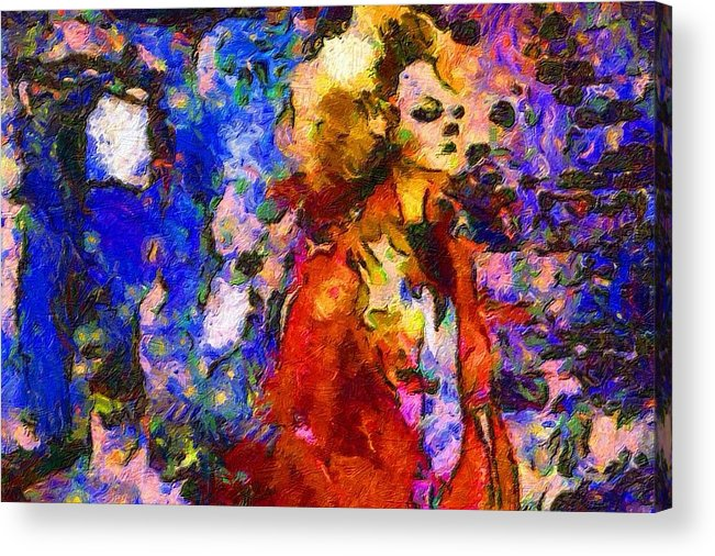Impressionist Fashion Painting Acrylic Print featuring the painting Fashion 322 by Jacques Silberstein
