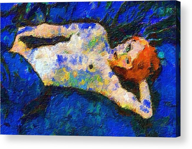 Impressionist Fashion Painting Acrylic Print featuring the painting Fashion 76 by Jacques Silberstein