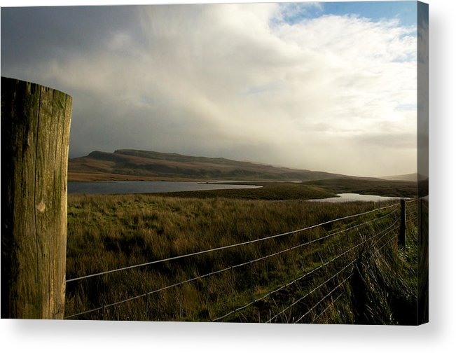 Nature Acrylic Print featuring the photograph Fenced Landcsape by David Resnikoff