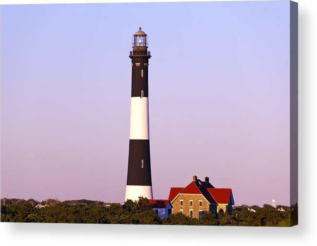 Lighthouse Acrylic Print featuring the photograph Fire Island Lighthouse by Cathy Kovarik