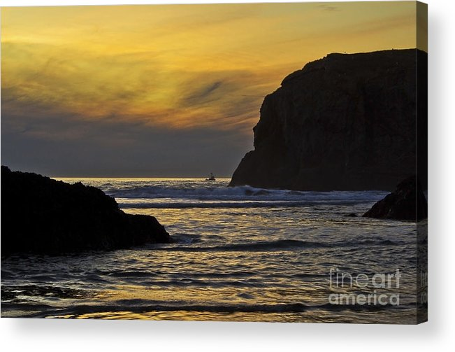 Fishing Acrylic Print featuring the photograph Fishing In The Dark by Rachelle Crockett