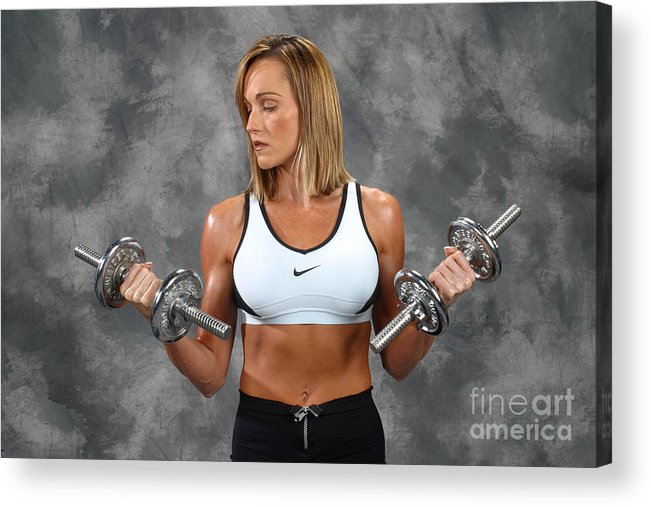 Model Acrylic Print featuring the photograph Fitness 8 by Gary Gingrich Galleries