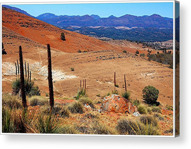 Hucks Lookout Acrylic Print featuring the photograph Flinders Ranges Hucks Lookout by Patricia Tapping