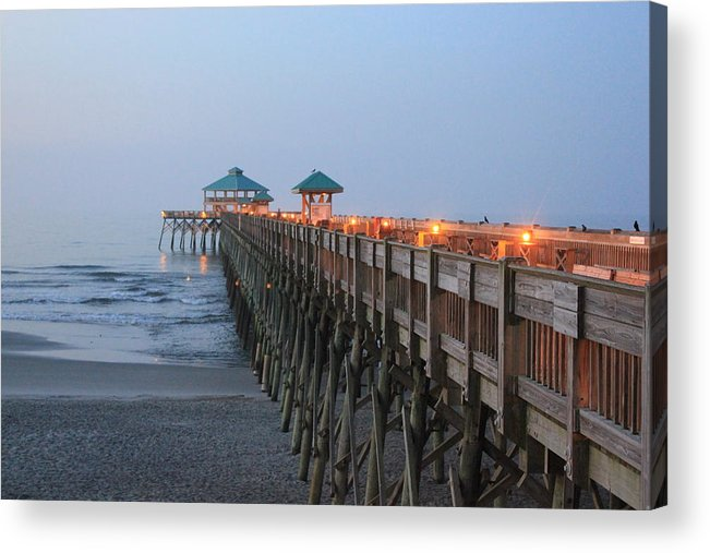 Pier Acrylic Print featuring the photograph Folly Pier by David White