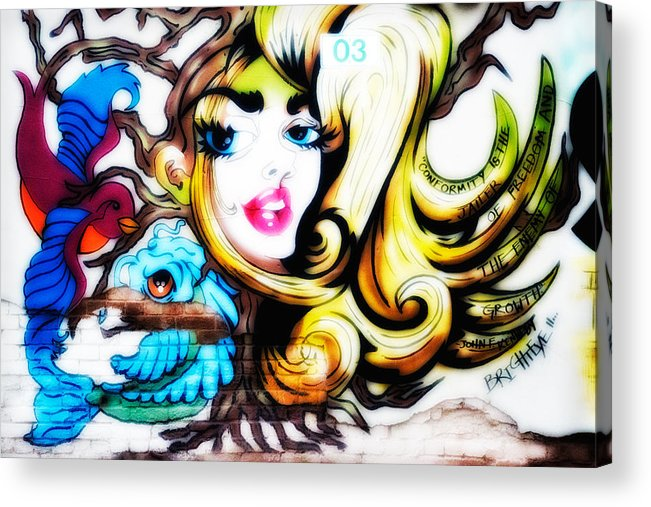 Graffiti Acrylic Print featuring the photograph Found Art 1 by Gary Rose