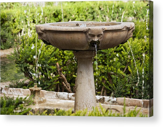 Roman Fountain Acrylic Print featuring the photograph Fountain With Faces by Francisco Marquez