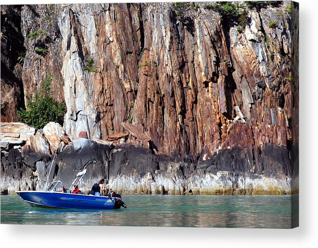 Alaska Landscape River Haines Skagway Acrylic Print featuring the photograph From Haines To Skagway by Harvey Barrison