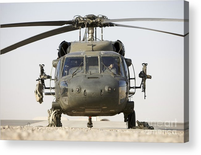 Aviation Acrylic Print featuring the photograph Front View Of A Uh-60l Black Hawk by Terry Moore