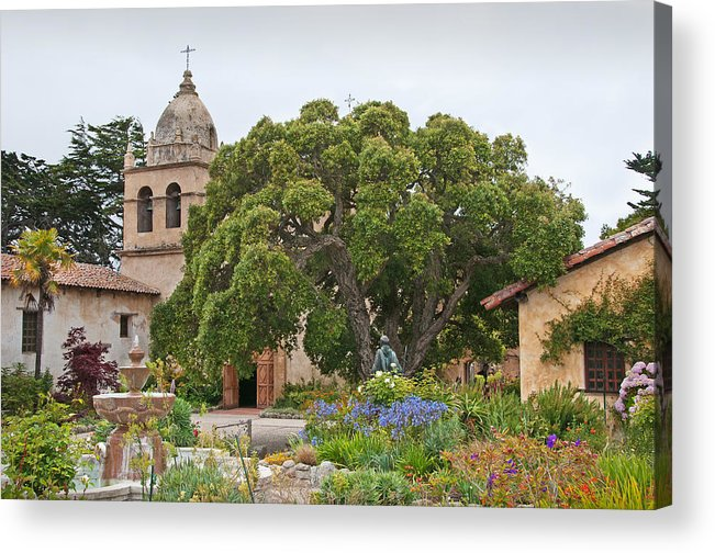 Carmel Mission Acrylic Print featuring the photograph Gardens Of Carmel Mission by Kent Sorensen