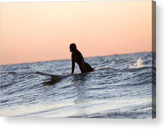 Horizontal Acrylic Print featuring the photograph Trying To Catch A Wave by Christopher Purcell
