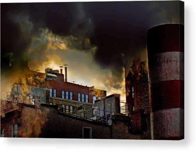 Dark City Acrylic Print featuring the photograph Gloomy City by Alex AG