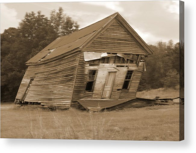 Old Building Acrylic Print featuring the photograph Going Down by Mike McGlothlen