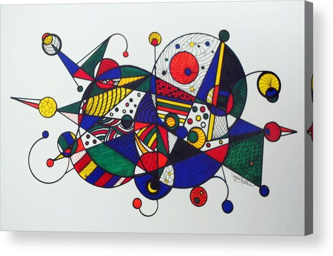 Abstract Acrylic Print featuring the drawing Going Places by Janis Hobbs
