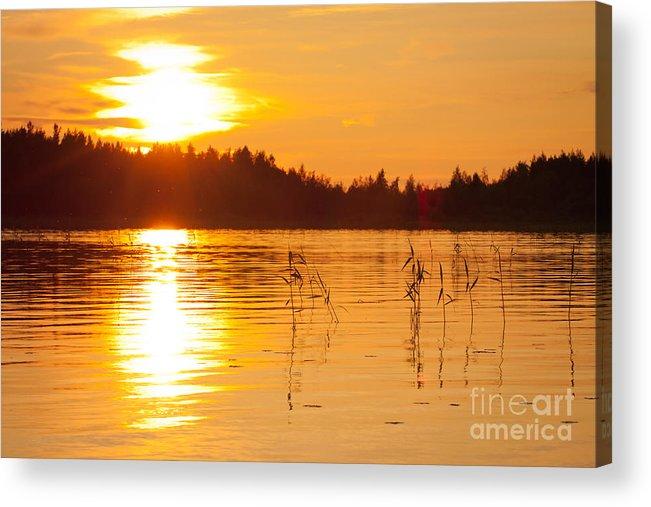 Sunset Acrylic Print featuring the photograph Golden Sunsset by Johan Larson