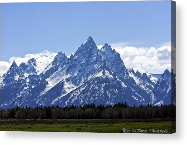 Grand Tetons Acrylic Print featuring the photograph Grand Tetons 2 by Charles Warren