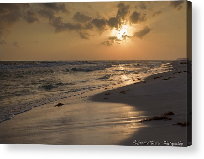 Sunset Acrylic Print featuring the photograph Grayton Beach Sunset by Charles Warren