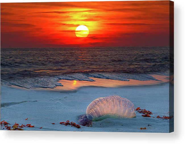There Is Never A Bad Sunset On This Gulf Of Mexico Beach Acrylic Print featuring the photograph Grayton Beach Sunset IIi by Charles Warren