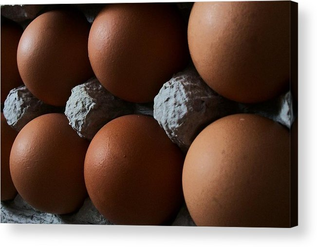 Eggs Acrylic Print featuring the digital art Half Dozen by Wide Awake Arts
