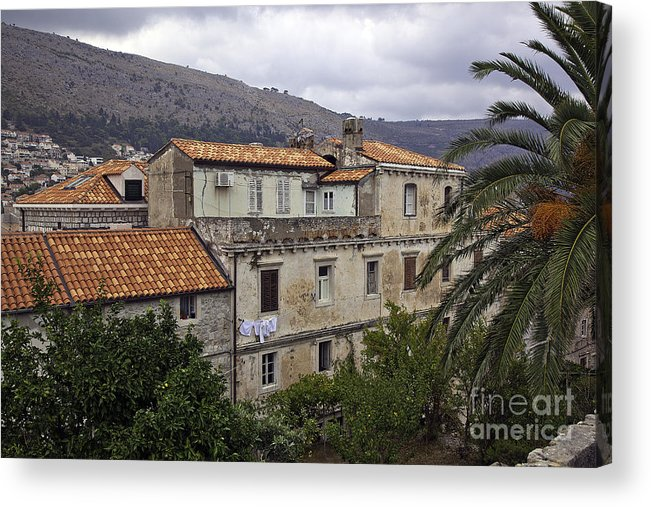 Dubrovnik Acrylic Print featuring the photograph Hanging Out To Dry In Dubrovnik 1 by Madeline Ellis